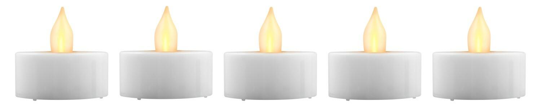 Day Flikkerende LED Kaarsen 24 Stuks - Met Batterij - Warm wit