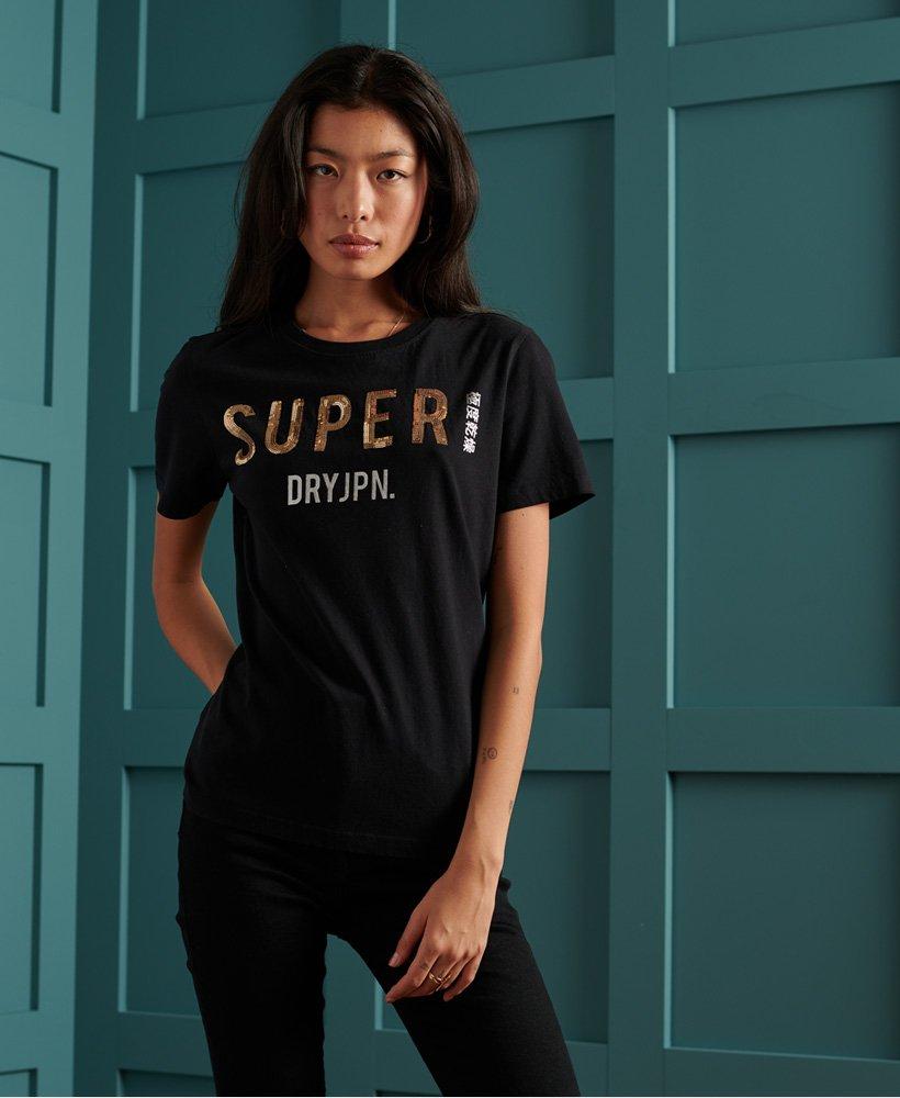 Superdry Super Jpn Sequin Tee 2021